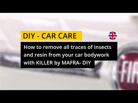 How to remove all traces of insects and resin with Killer