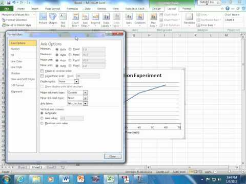 Making and XY scatter plot in Excel