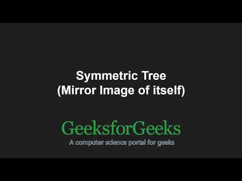 Symmetric Tree (Mirror Image of itself) | GeeksforGeeks