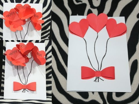 DIY - Birthday Greeting card | pop up greeting card | How to make quick & easy greeting Card.