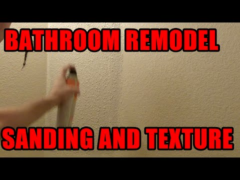 HOW TO: SAND AND TEXTURE DRYWALL!!!