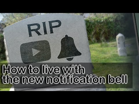 How to live with the new 2017 YouTube notification bell