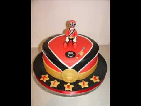 Power Rangers (Red Samurai) Fondant Cake