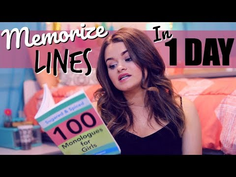 How to Memorize Lines in 24 HOURS! FAST and EASY Tips!