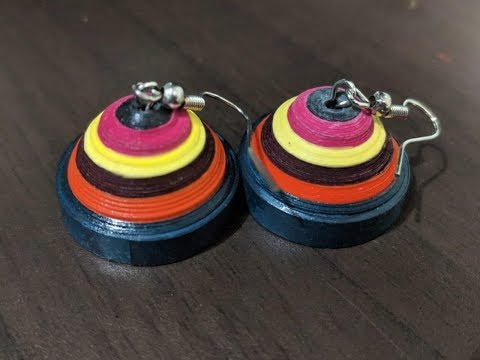 How to make easy paper quilling earrings | Agrima Grover