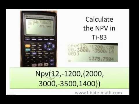 How to calculate Net Present Value (NPV) in Texas Instrument TI-83 or 84