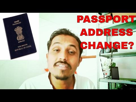 HOW TO CHANGE/UPDATE ADDRESS IN PASSPORT ONLINE??(HINDI 2017)