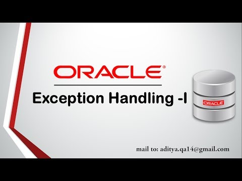 PL/SQL Tutorial | Exception Handling in Oracle Database