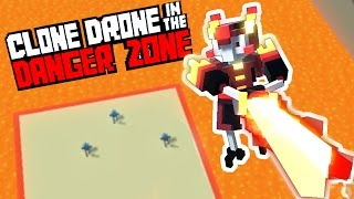 The Deadly Flame Sword of Lava and Flame! - Clone Drone in the Danger Zone Gameplay