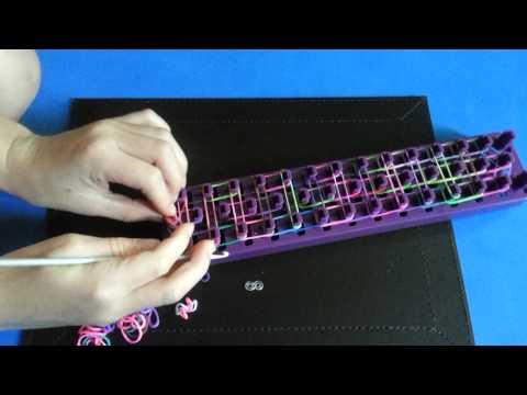 Crazy loom how to make a ladder bracelet