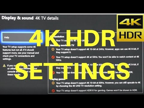 4K HDR Settings for Xbox One X Solved (LG Samsung Sony 4K HDR TVs)