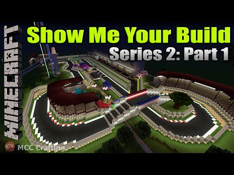 Minecraft Show Me Your Build Series 2 Part 1 PS3/PS4 Racetrack, Town, City