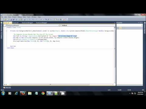 VB.Net 2010 How To Make A Screen Recorder