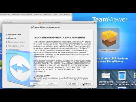 How to: Download/Install Team viewer for Mac OS X