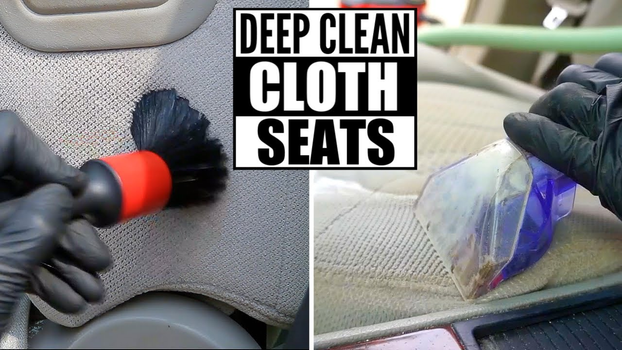 How To DEEP CLEAN Cloth Car Seats The Right Way And Remove Stains and Dirt