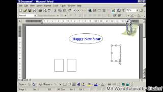 change ractangle and oval shapes in MS word tutorial by Shaikof