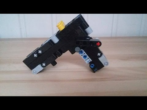 how to make a mini lego blowback gun by Mads Bach.