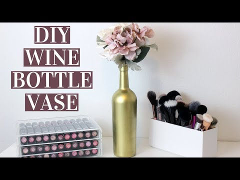 EASY DIY WINE BOTTLE VASES | Wedding Centerpiece, Home Decor