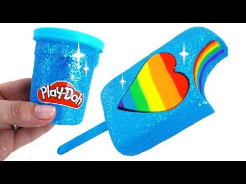 Play Doh Ice Cream Sparkle Heart Popsicle How to Make Play Doh Food Ice Cream for Kids