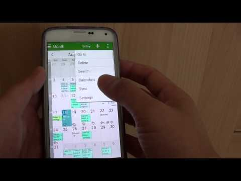 Samsung Galaxy S5: How to Show / Hide Weather Information in Calendar
