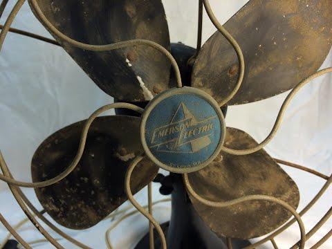 1949 Emerson 2450-G Desk Fan Restoration - Part I (before)