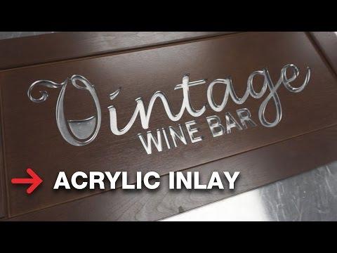 Acrylic Inlay | Wooden Cabinet Door | Laser Cut
