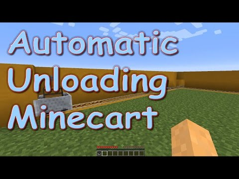 Automatic Minecart Unloader - Minecraft Tutorial [1.5, 1.6, 1.7, 1.8]