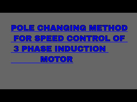 Pole changing method for speed control of 3 phase induction motor