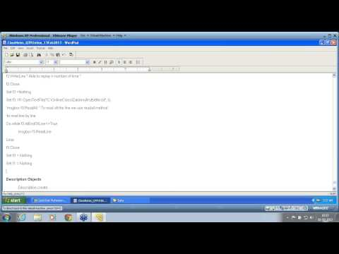 QTP Part 61 Frameworks