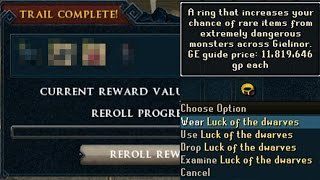 Loot From 20 Elite Clues With The New T4 Luck Ring (luck Of The Dwarves)   Is It Worth It?