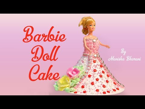 How To Make Barbie Doll Cake Recipe In Hindi Doll Cake Decorating Tutorial  डॉल  केक