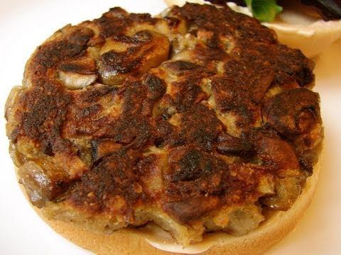Mushroom Veggie Burger Recipe - Best Garden Burger Ever!
