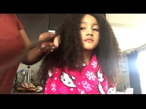 Biracial Hair Care: Wash Day | Deep Conditioning | Big Curly Hair | Waist Legth