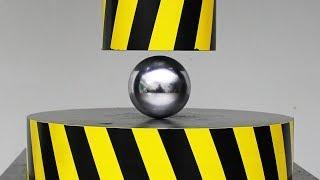 Download EXPERIMENT HYDRAULIC PRESS 100 TON vs METAL BALL Video