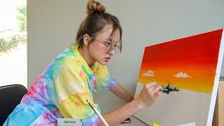 dando malos consejos de amor mientras pinto