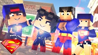 Minecraft: WHO'S YOUR FAMILY? - O BEBÊ DA SUPER GIRL E O BEBÊ DO SUPER MAN VIRARAM IRMÃOS!