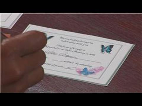 Wedding Tips & Advice : How to Reply to an RSVP for a Wedding Invitation
