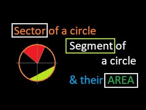 What is sector and segment of a circle and hoe to tind their Area