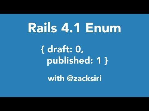 Rails 4.1 Enum