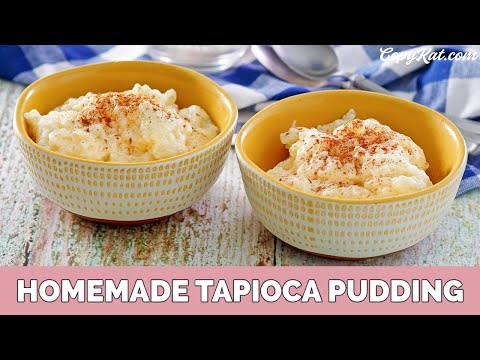 How to make Tapioca Pudding