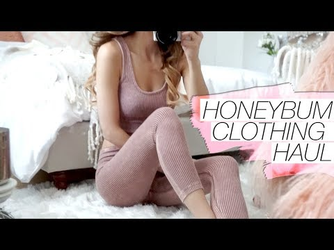 Try-On Clothing Haul from Honeybum! 2017