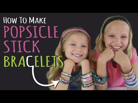 How to Make Popsicle Stick Bracelets – Kids Crafts –DIY Jewelry – Birthday Gifts
