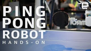 Omron Forpheus Hands-On at CES 2019: Ping-pong playing robot