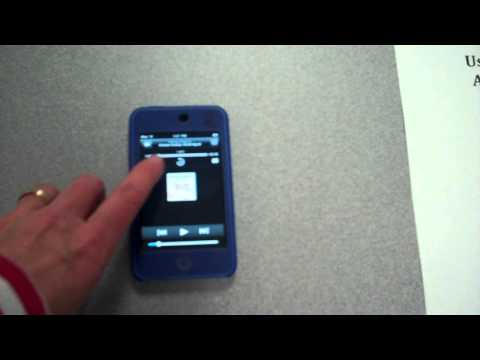 Listen to an audio book on an iPod Touch Movie