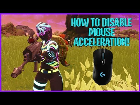 HOW TO DISABLE MOUSE ACCELERATION IN FORTNITE BATTLE ROYALE!