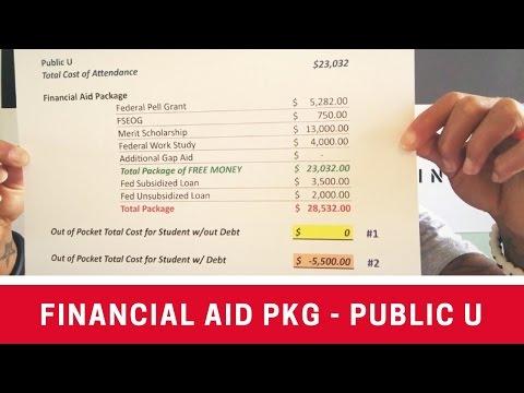 Financial Aid Package Comparison - Public U