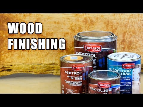 How to Finish Wood w/ Owatrol Products - Wood Finishing a Live Edge Table Top