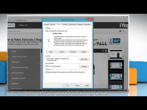 How to change Internet Explorer® 11 Privacy Settings on Windows® 8.1 PC