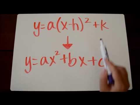 Converting Vertex to Standard Form Tutorial