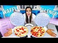 The Waffle Challenge! Making Waffles out of Food!